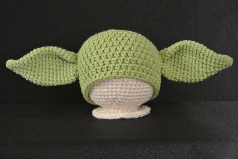 Yoda Hat PDF Pattern- Sizes NB-Adult   Crochet Beanie Hat Patterns ...