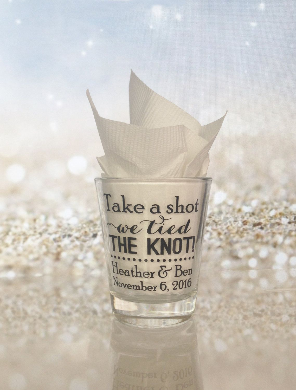 100 Pieces - Shot Glasses Wedding Favors Personalized 1.5oz Glass ...