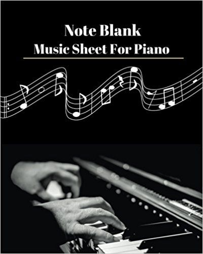 Note Blank Music Sheet For Piano V.2: Blank Note Music For