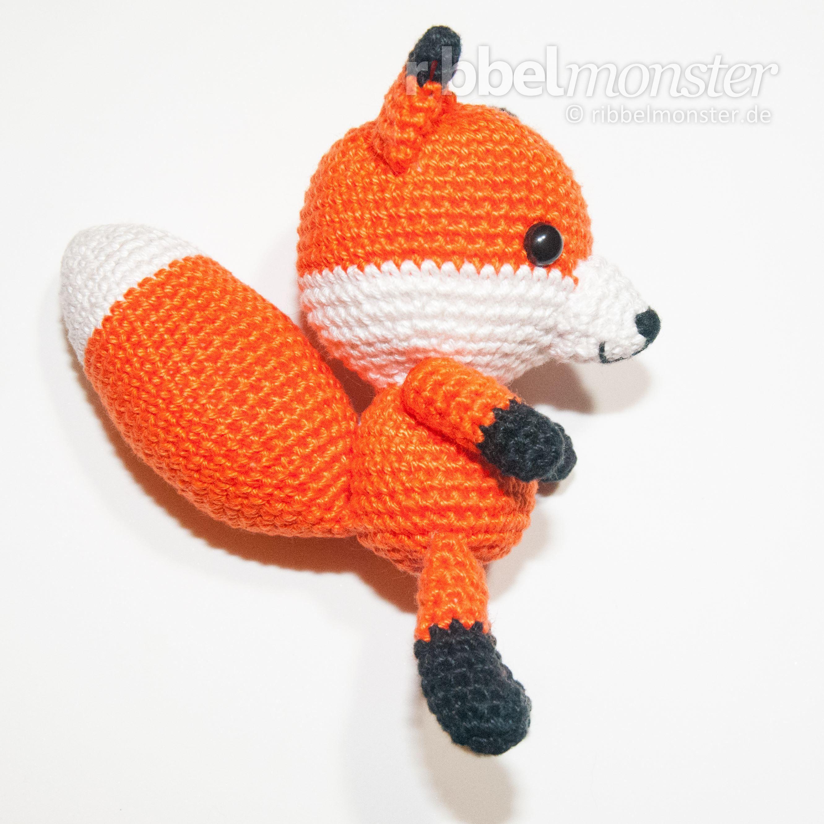 kostenlose Häkelanleitung - Amigurumi - schlauen Fuchs häkeln #amigurumimodelleri