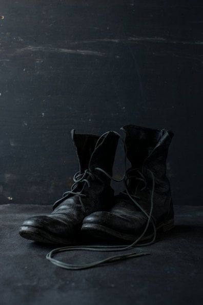 Gray | Grey | Gris | グレー | Grigio | серый | Gurē | Colour | Texture | Black Guidi Boots by stateofspace on Etsy