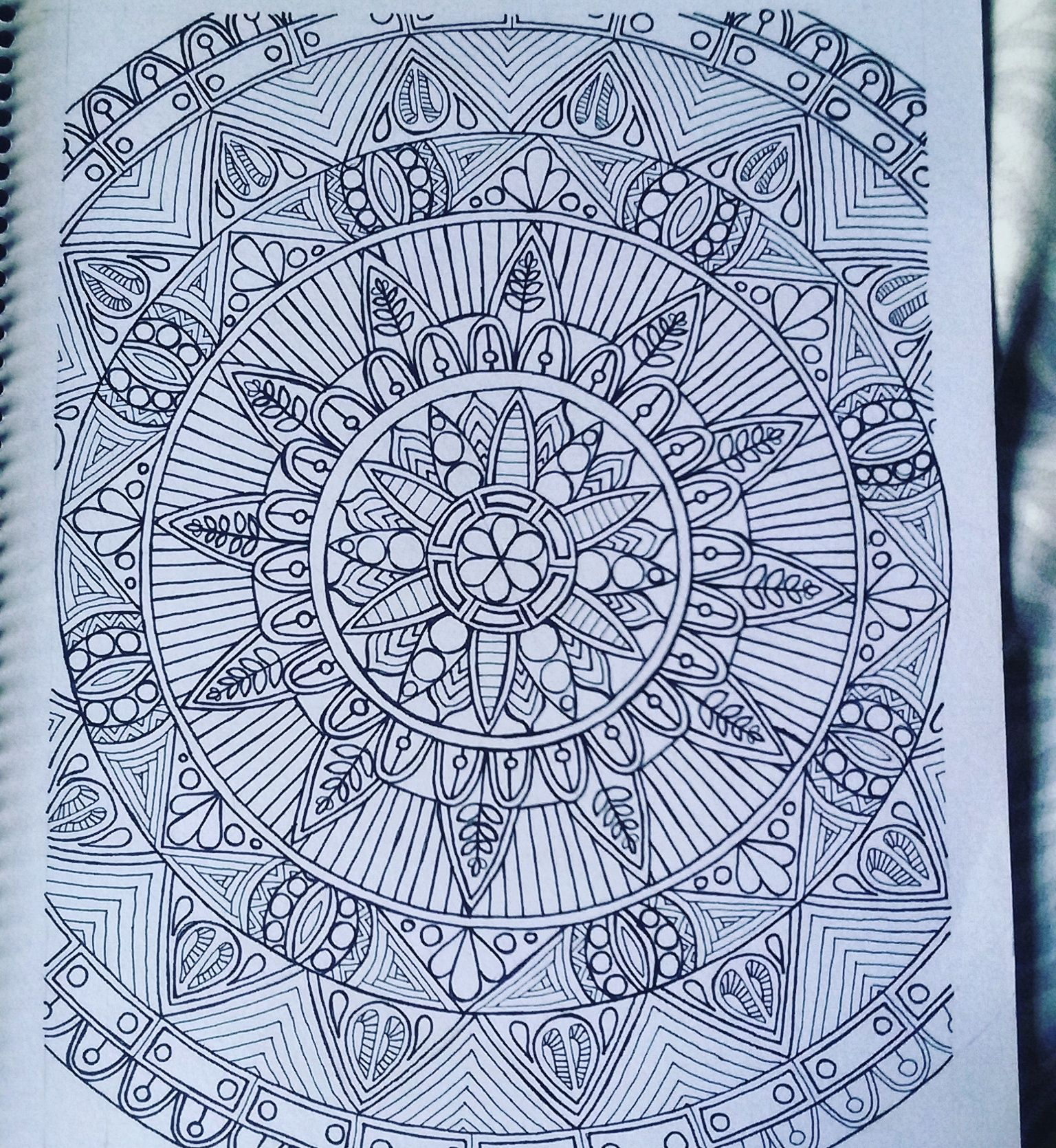 Mandala doodle zentangle adultcoloringbook drawing my first