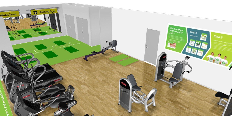 3d Design For Nuffield Health Gym Design Fitness Studio Design