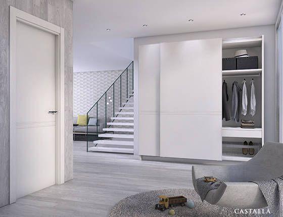 Puerta de interior blanca modelo zurbar n de la serie - Casas con puertas blancas ...