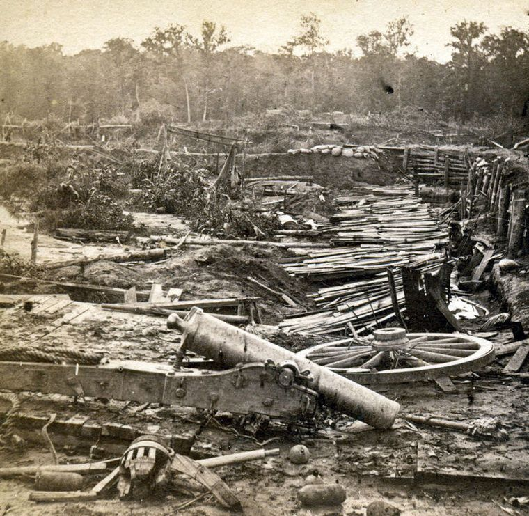 The Port Hudson, La., battlefield of 1863, scene of a siege and several assaults, taken by Baton Rouge photographers McPherson and Oliver. Such photos are quite scarce, says Bob Zeller of the Center for Civil War Photography. Robin Crawford owned more than 35 views, a remarkable number.