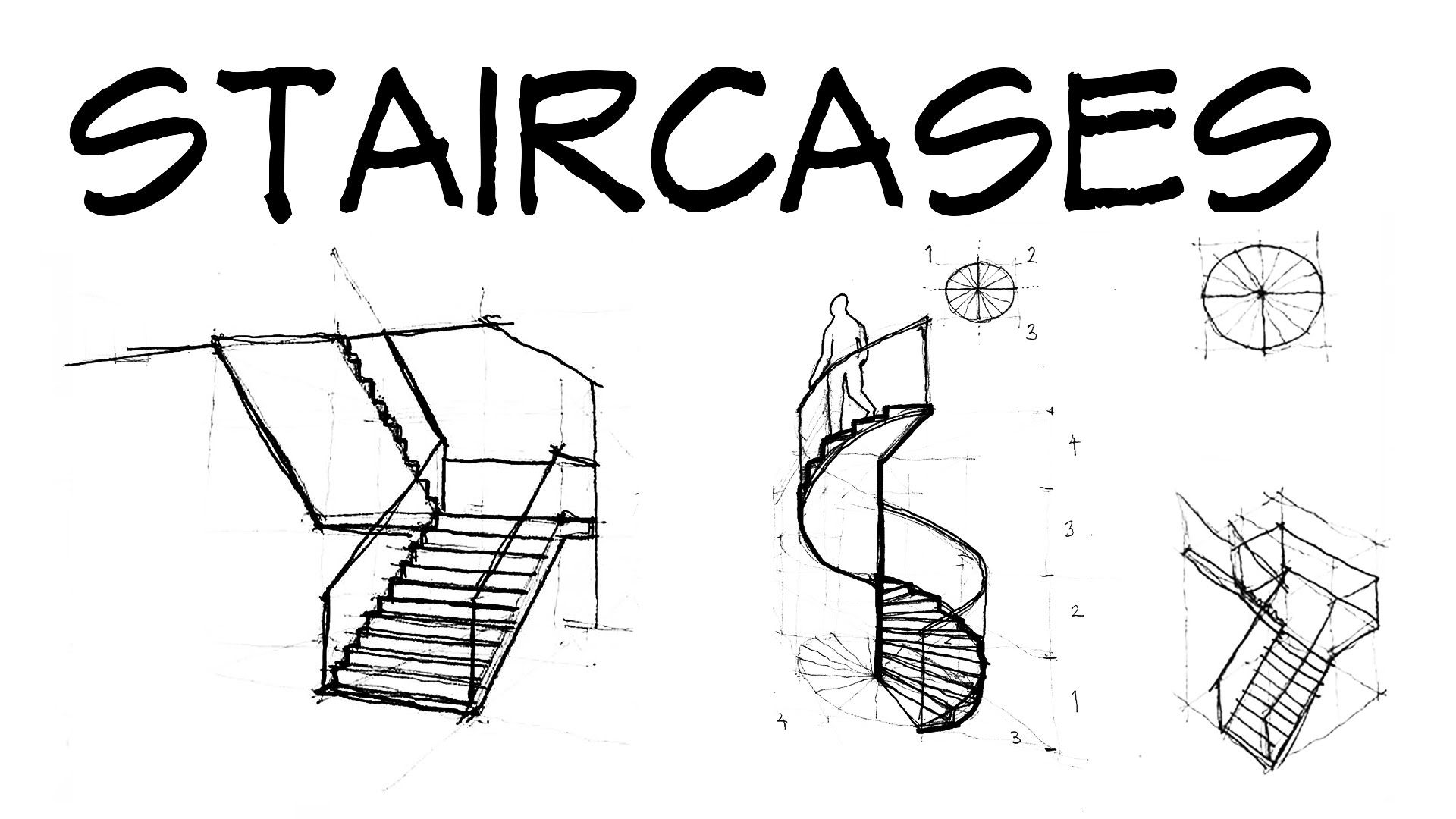 Staircases - Architecture Daily Sketches