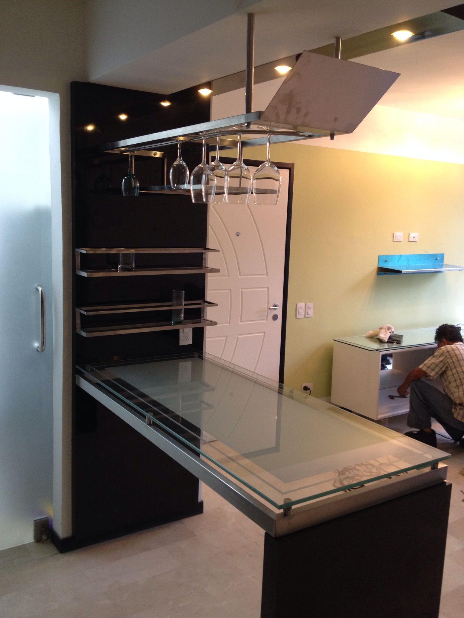 Muebles de bar peque os y minimalistas buscar con google for Cocinas modernos pequenos