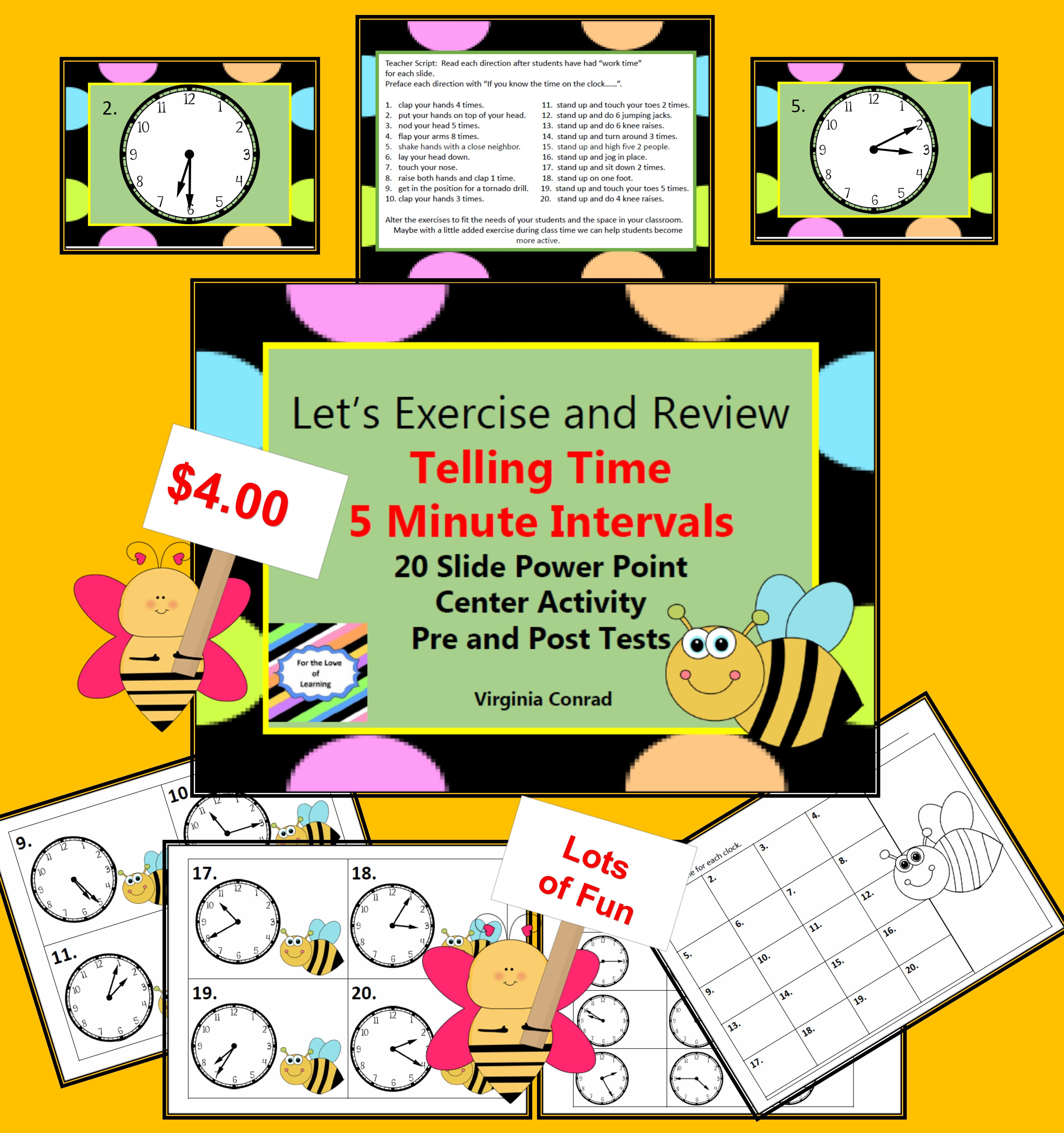 Telling Time To 5 Minute Intervals With Images