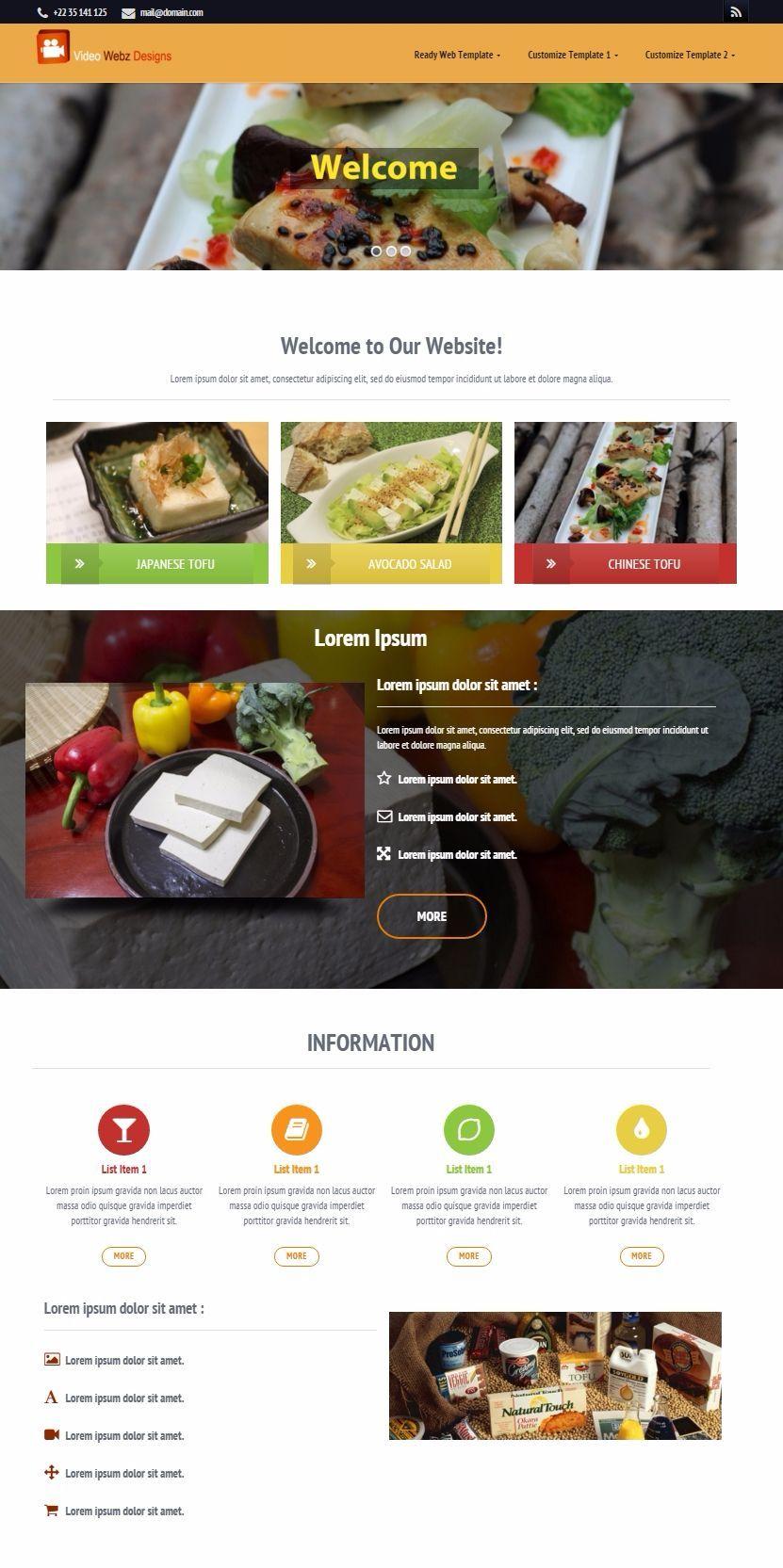 Food Manufacture Web Template | Website Template Tips | Pinterest
