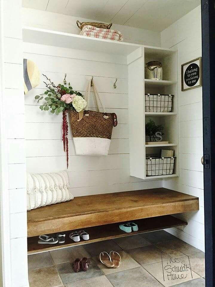 What a beautiful way to add seating and storage. 4a7bc3c07