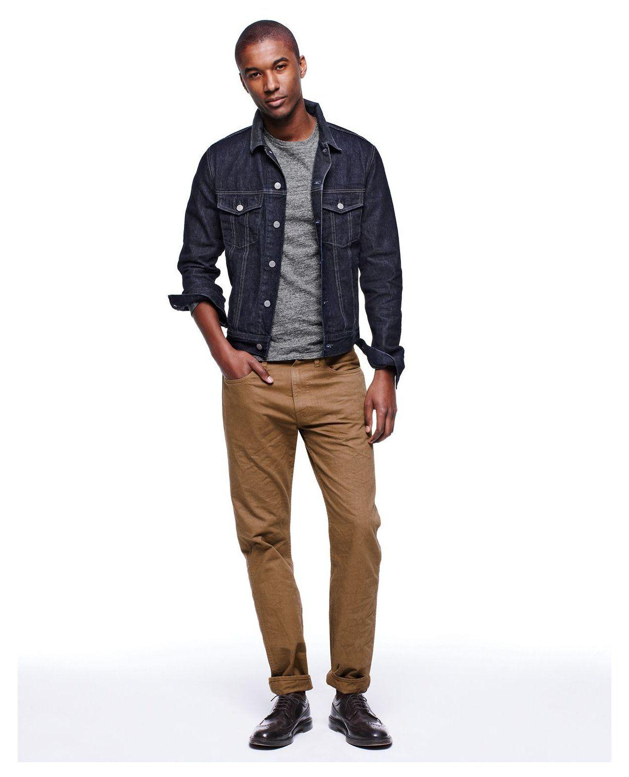 Men S Shirts Jeans Shoes More Men S New Arrivals Tan Jean Jacket Outfit Men Tanjeanjacketout Jean Jacket Outfits Men Men S Denim Style Mens Outfits [ 1572 x 1272 Pixel ]