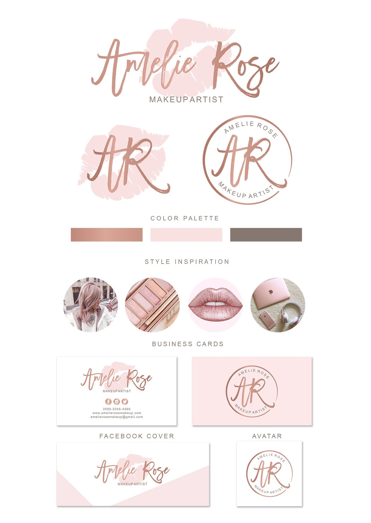 Lips Makeup Artist Logo Design Cartao De Visita Maquiadora