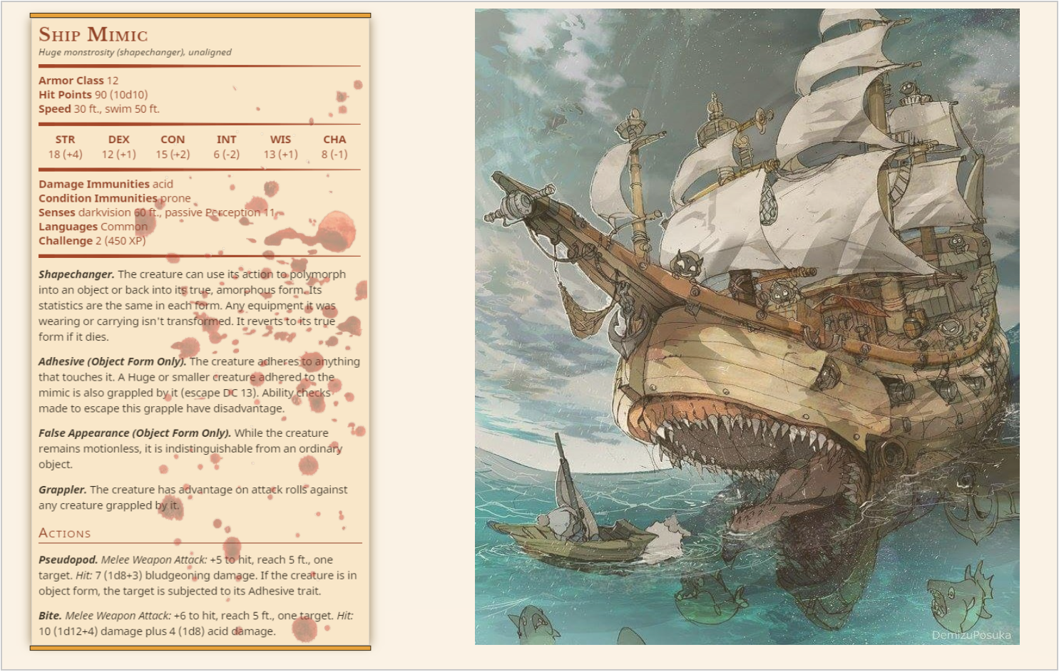 Pin by Robert Hobbs on D&d in 2019 | Dnd monsters, Dnd stats