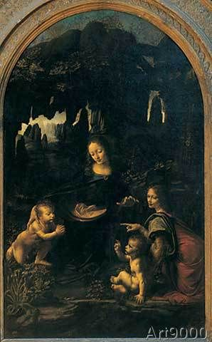 Leonardo da Vinci - Madonna of the Rocks, High Renaissance