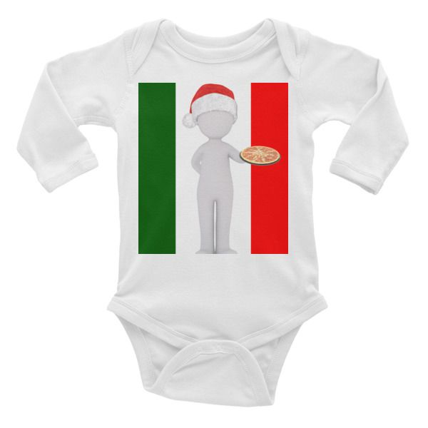 italian christmas Infant long sleeve one-piece