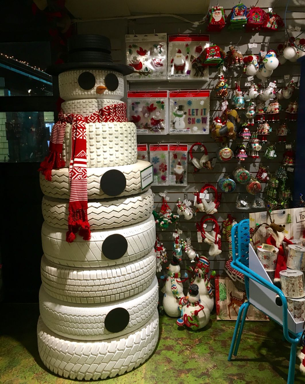 Diy Goals Tire Snowman From Martin Viette Nurseries In East