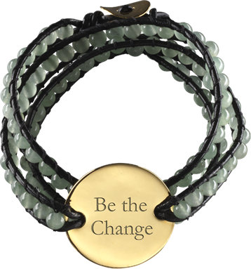 Beaded and roped Indian Bracelet Jade Charm Bracelet personalized with names, initals or sayings.  Your choice!