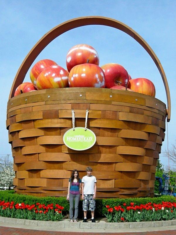 Longaberger world 39 s largest fruit basket at homestead Longaberger basket building for sale