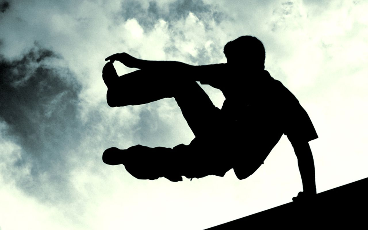 Image result for parkour silhouette