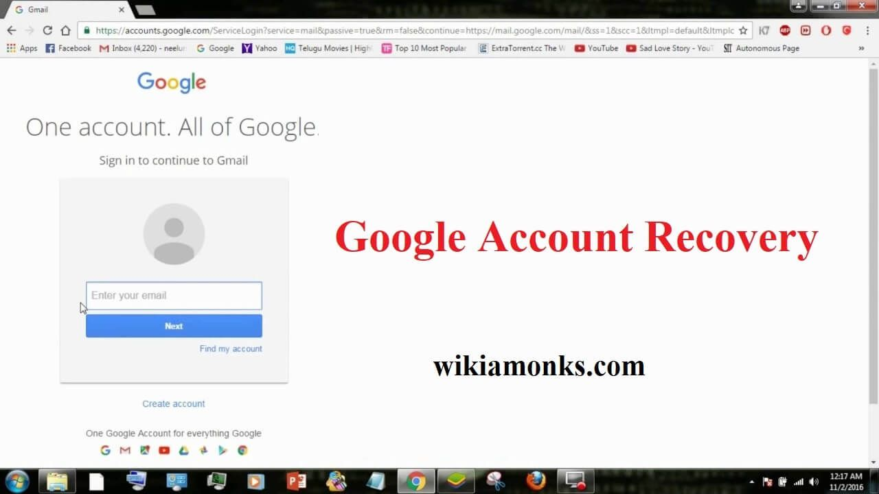 Google account recovery help how to recover gmail