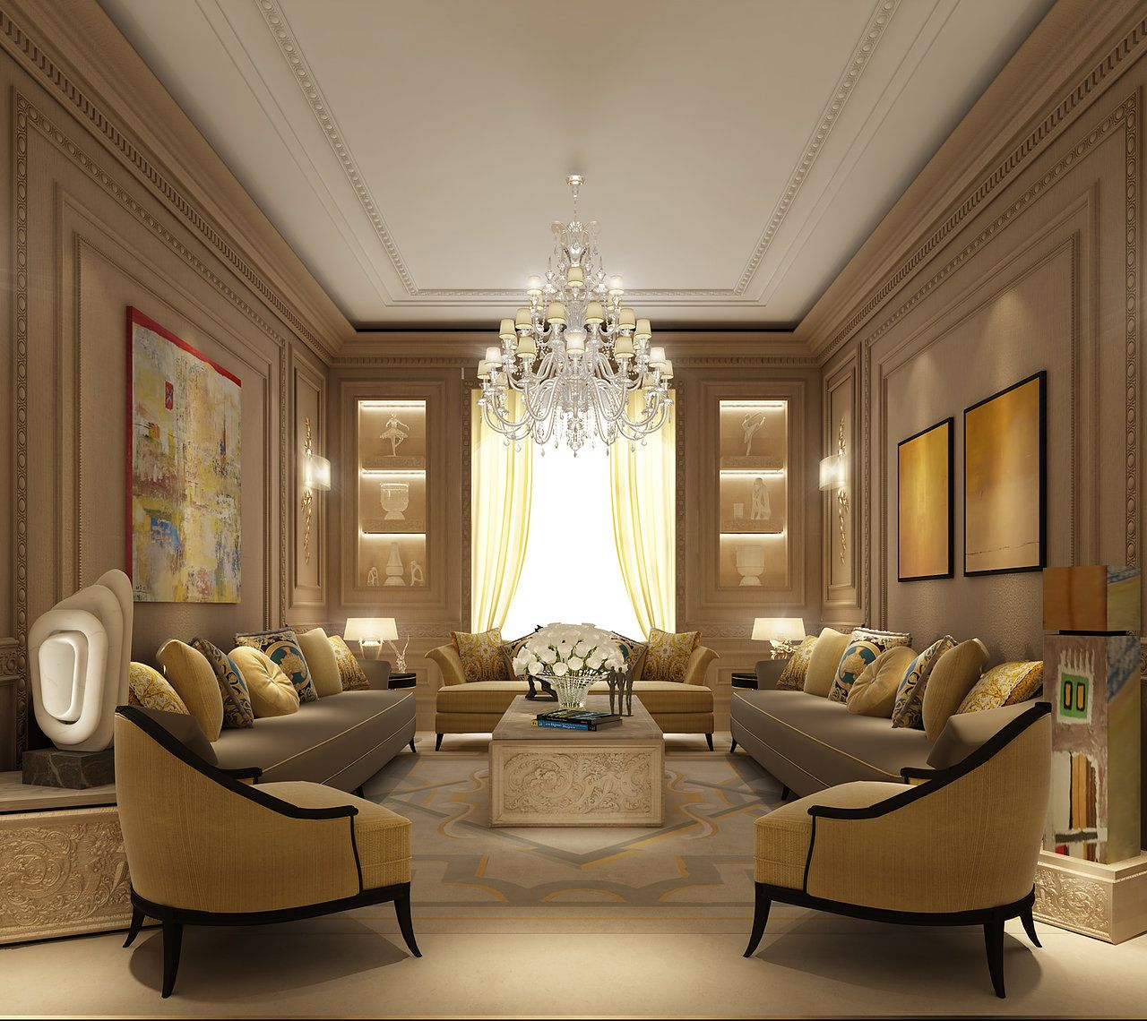 Luxury Living Room Interior Design Ideas: Luxury Interior Design Dubai...IONS One The Leading