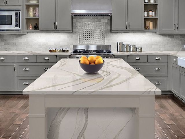 17 Quartz Kitchen Countertop Looks Like White Marble. What Is White Marble  Alternatives For Kitchen