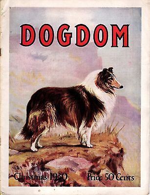 Vintage Dogdom Magazine 1930 Christmas Supplement with Collie Cover