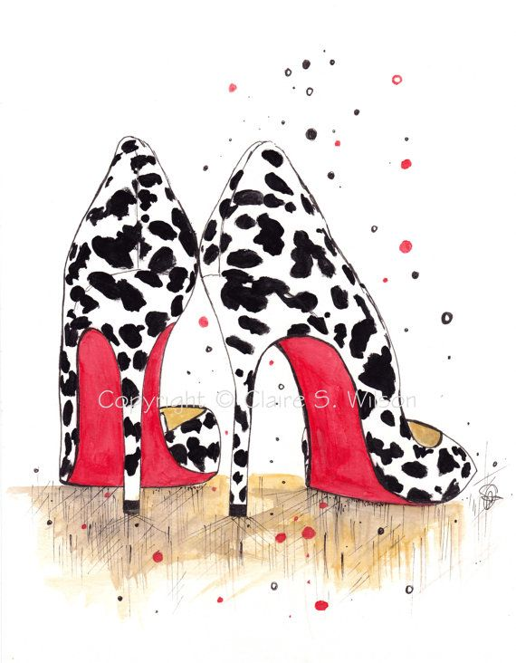 d3e99a32d1f1 Wild Louboutins Art Print 5x7 by claireswilson on Etsy