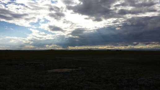 Bennett, CO just after 5 p.m.. Time to take a break before hittin' rush hour traffic in Denver! Excellent view!