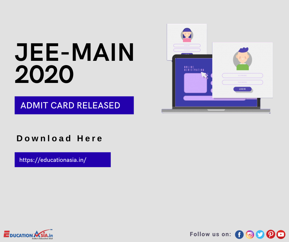 Jee Main 2020 Admit Card In 2020 Education Related Cards Education