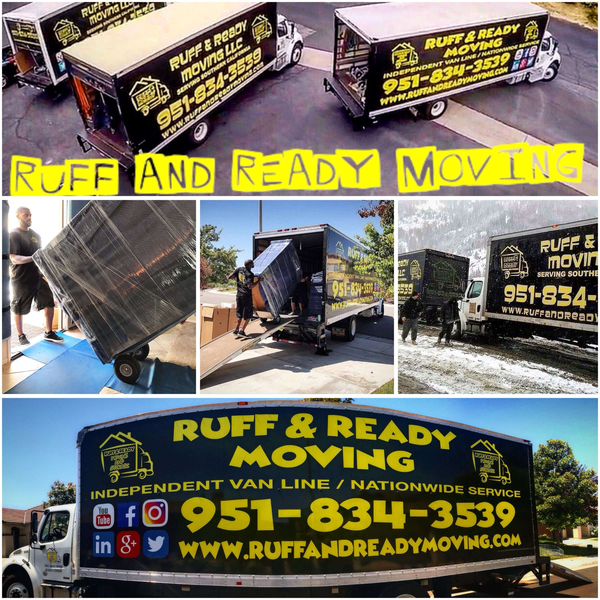 Ruff And Ready Moving Is Always On The Go Seven Days A Week 365 Year We Are Here To Help You From Start Finish Will Walk