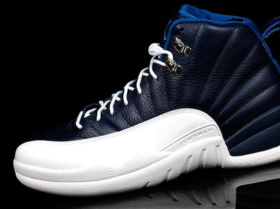 Nehmen Billig Schuhe Jordan Xii Retro Deal Whitefrench Obsidian Blau Billig