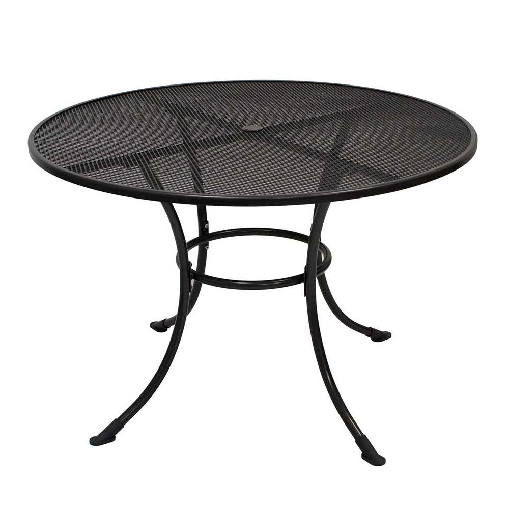 Runder Gartentisch aus Metall Grau Jetzt bestellen unter: https ...