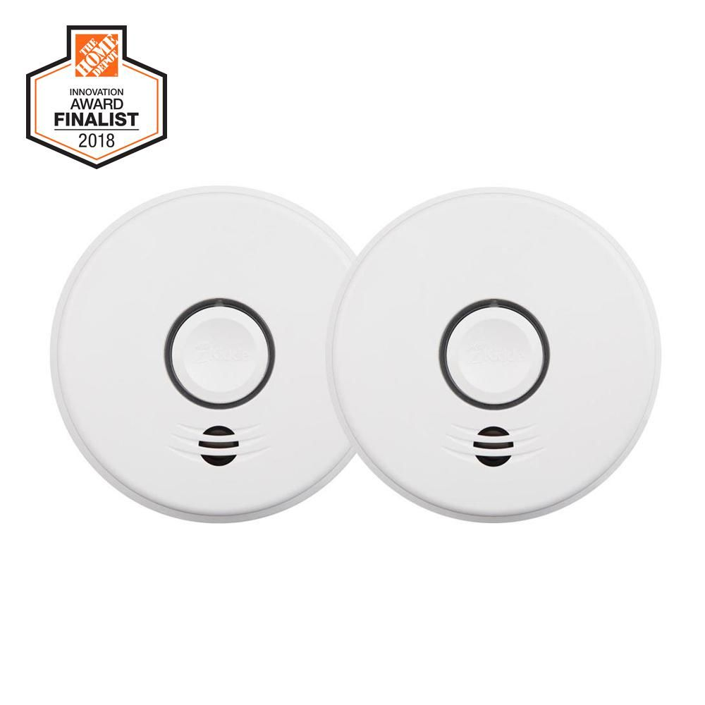 Kidde 10 Year Sealed Battery Smoke Detector With Intelligent Wire Free Voice Interconnect 2 Pack 21027682 Furnishing In 2019 Fire Safety Smoke Alarms Photoelectric Sensor