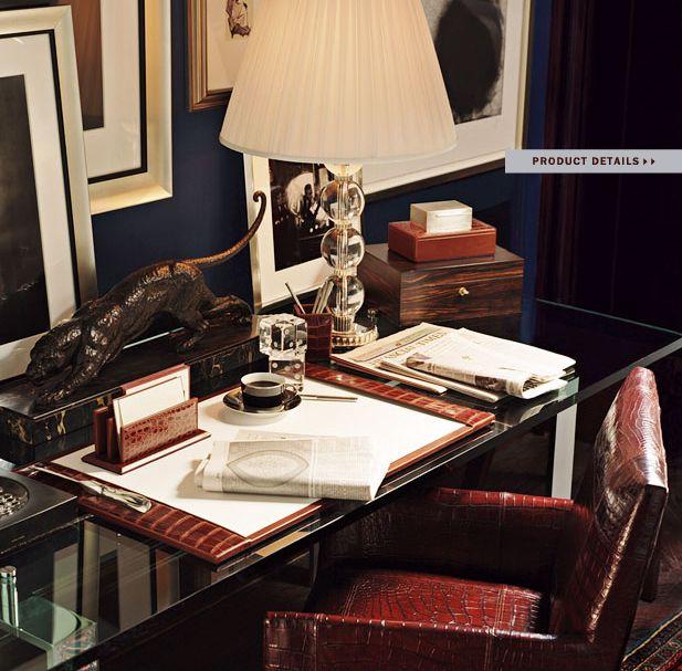 Ralph Lauren Home Modern Chairman New York Executive Style Ralph Lauren Home Office Interiors Ralph Lauren