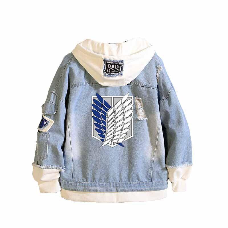 Attack on Titan Jeans Jacket Hoodie #jeanjacketoutfits