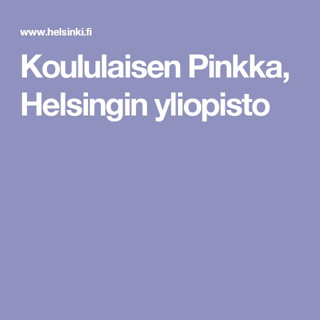 Koululaisen Pinkka, Helsingin yliopisto