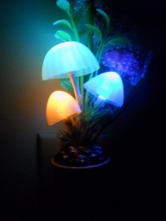 Mushroom Night Light Light Up Beautiful By Twistedcreations
