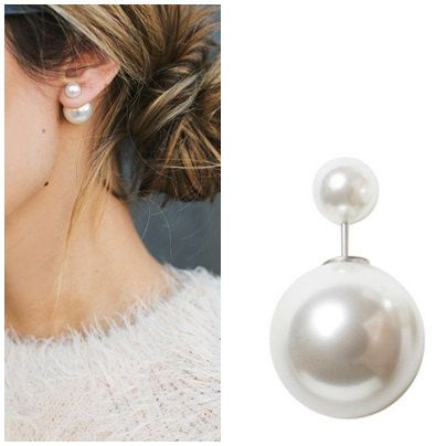 Christmas Double Pearl Earring Dior By Bridesmaidgift4