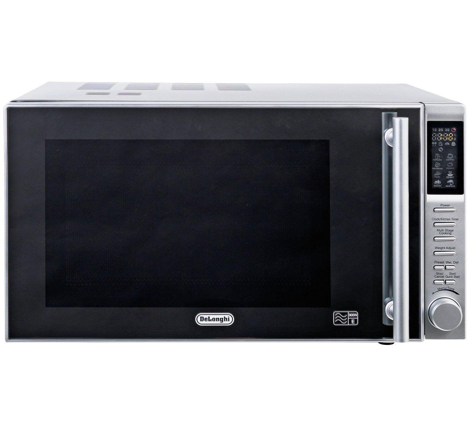 De Longhi 900w Standard Microwave P90b1b Stainless Steel Microwaves Argos