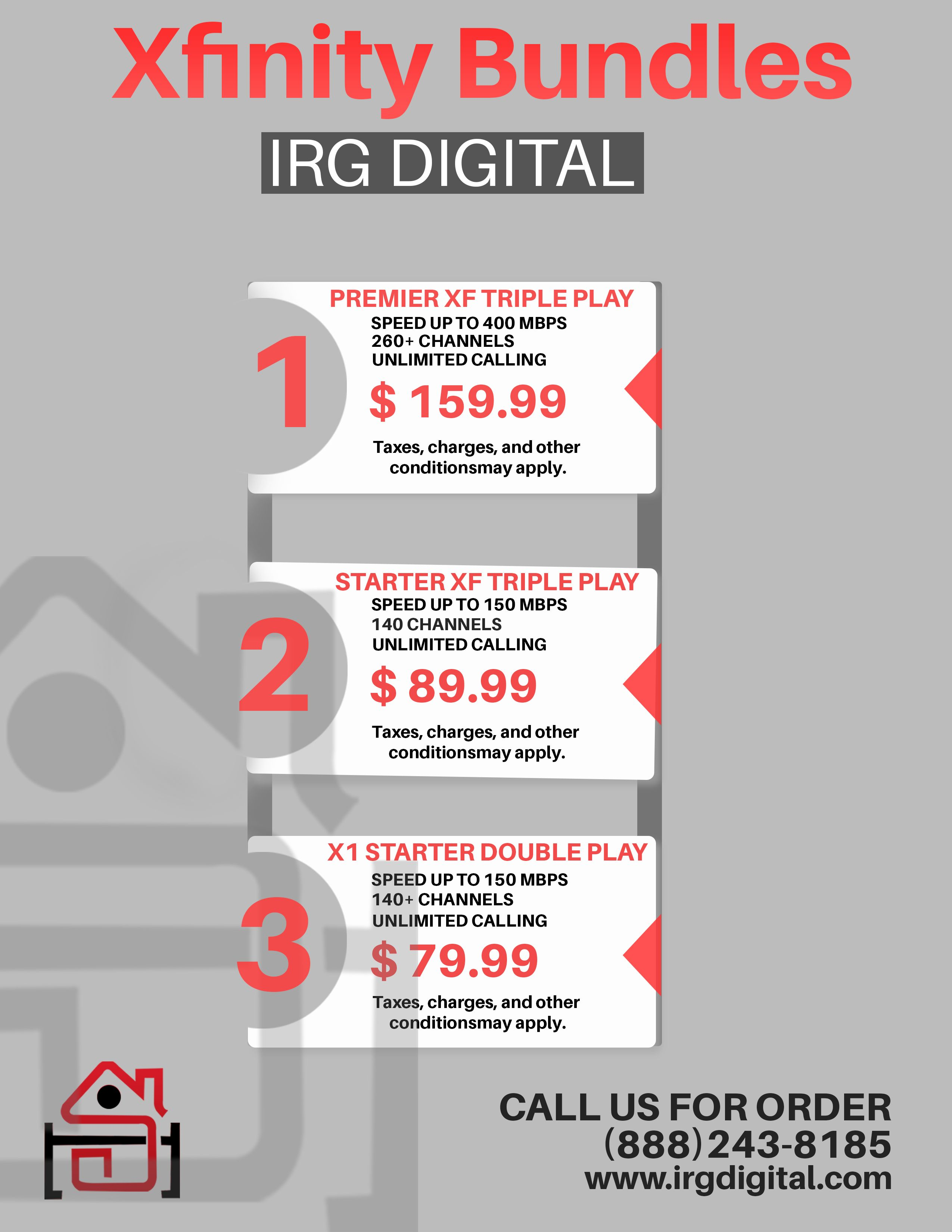 Do You Pay The Triple Bill For Domestic Amenities Such As Cable Tv Internet And Phone Calls As A Result Irg Digital Offers Xf Xfinity Internet Deals Digital
