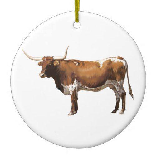 Texas Longhorn Christmas Ornament | Zazzle.com | Christmas ...