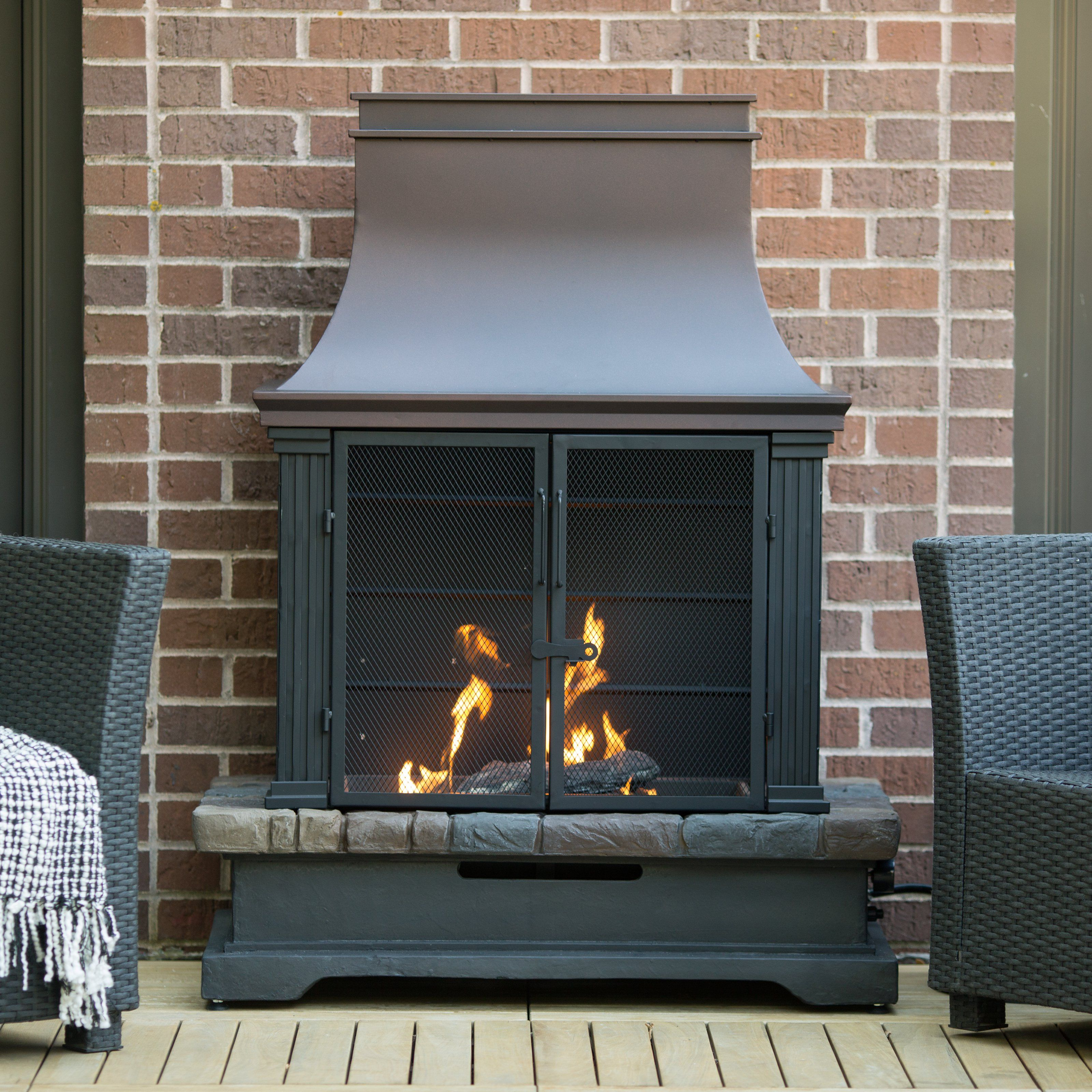 Red Ember Fairfield Propane Fireplace | Hayneedle ... on Embers Fireplaces & Outdoor Living id=76673