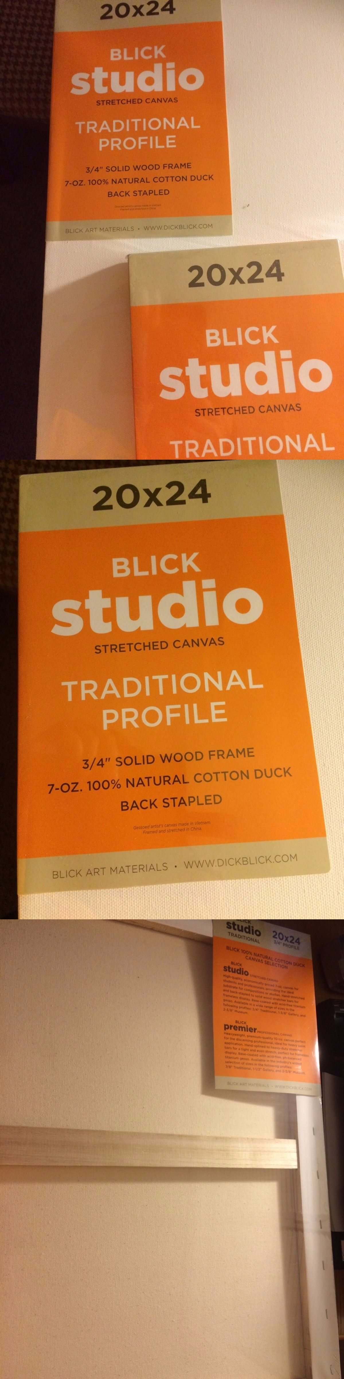 stretched canvas and boards 125229 blick studio 20x24 blank