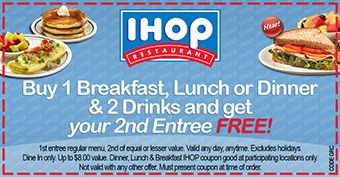 IHop Coupons, Promo Codes, Deals 2018 - CouponShy