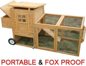 Egg Box S On Wheels Portable 100 Fox Proof Chicken Coop