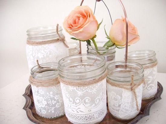 10 DIY Mason Jar Centerpiece Ideas for Weddings | Woodsy Weddings