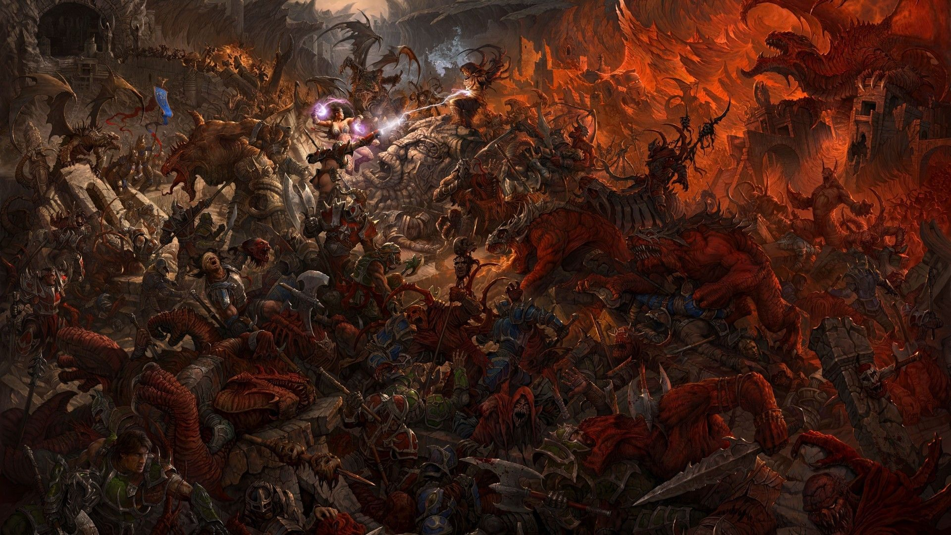 Warhammer War Battles Wallpaper 24445 Wallhaven Cc Fantasy Paintings Art Fantasy