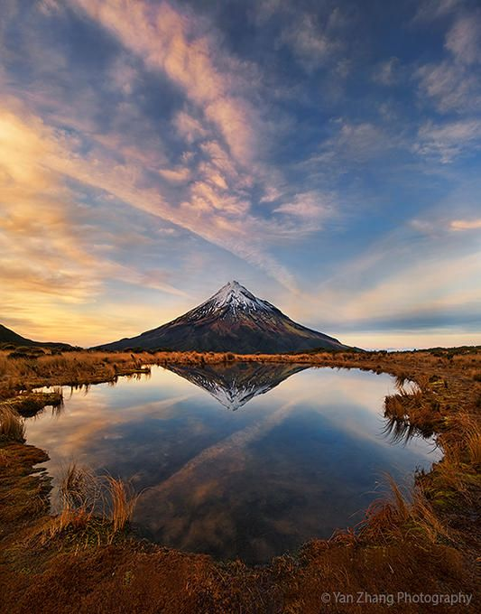 Mount Taranaki: Winter...: Photo by Photographer Yan Zhang - photo.net