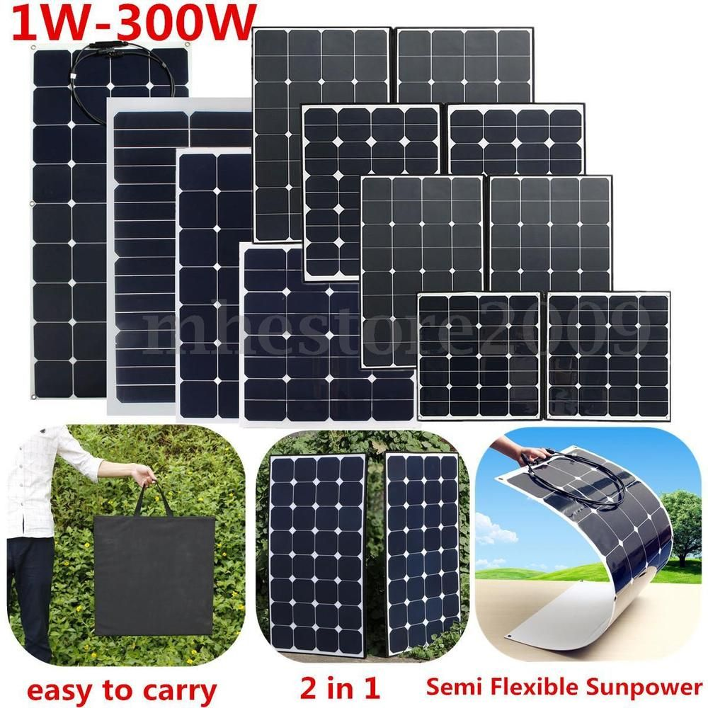 100 200 300w Class A Semi Flexible Solar Panel Battery Charger Rv Motorhome Boat Flexible Solar Panels Solar Panel Battery Solar Panels